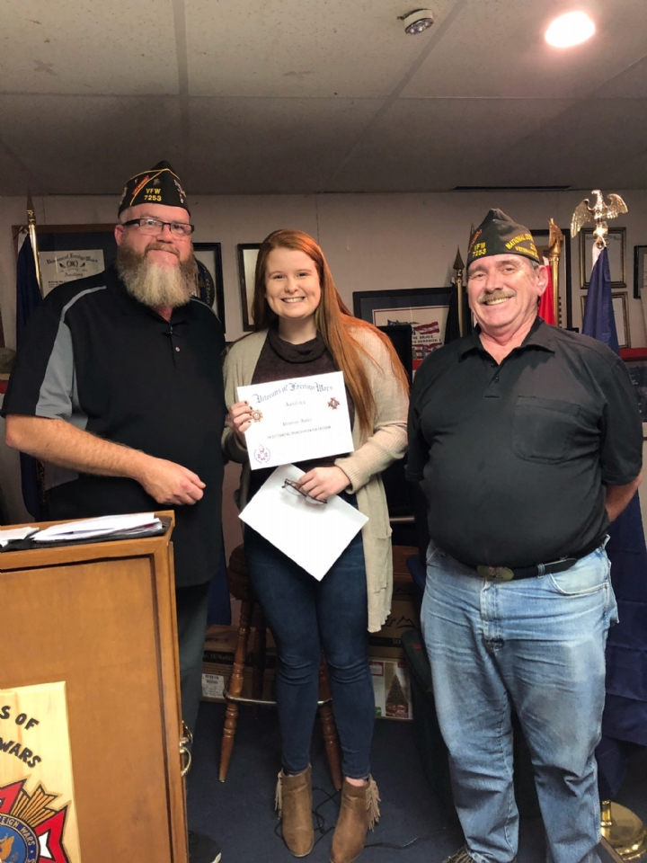 VFW Post 7253 Voice of Democracy winner Promise Asher from Derby High School